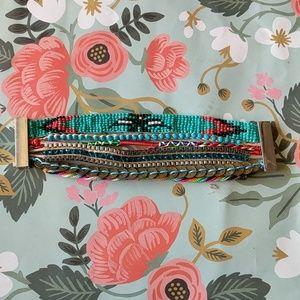Nwot turquoise magnetic layered bracelet festival
